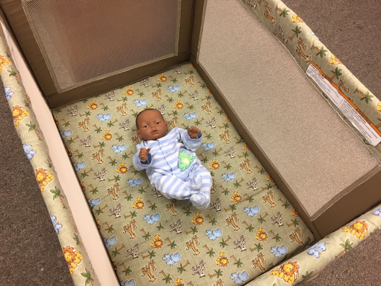 Baltimore City Health Department Example of ABCs Safe Sleep Crib